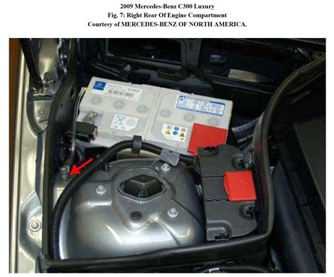 08 mercedes c300 battery location