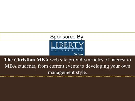 Mba Resources by Christian Mba In Human Resources