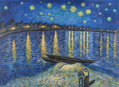 5 Paintings By Gogh by Vincent Gogh Starry The Rhone 2 Painting