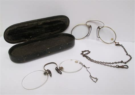 antique pince nez eyeglasses 2 pair with by retrogal415