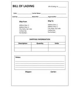 bill of lading template microsoft office templates