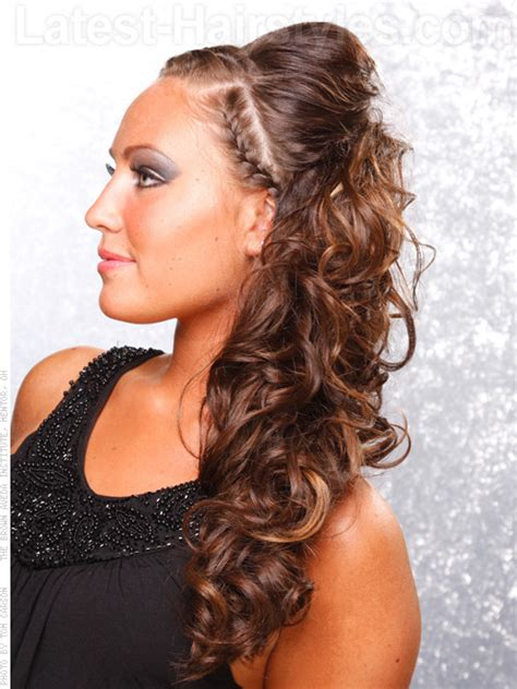 prom hairstyles oval face one shoulder dress headband 20 gorgeous formal half updos you ll fall in love with