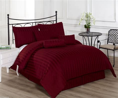 royal calico burgundy cal king size 7pc comforter set