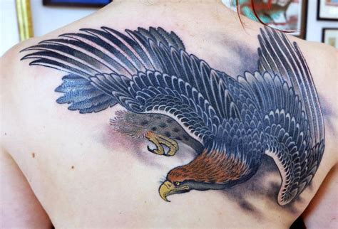 eagle tattoo on back tattoos alex