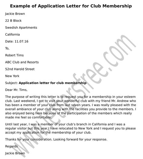 Application Letter Join Club sle letter of standing catholic church choice