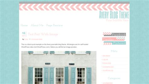 wordpress themes girly cute premade wordpress theme blog template shoppe avery