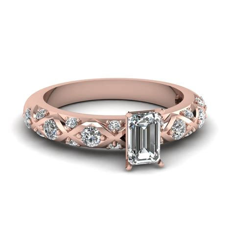 affordable emerald cut engagement rings