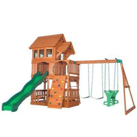 swing sets home depot backyard discovery playsets swing sets parks