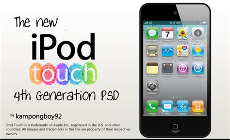 Softcase Ipod Tourch 4th Generation ipod touch 4th psd by kongboy92 on deviantart