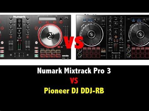 numark mixtrack pro 3 vs pioneer dj ddj rb cual es mejor