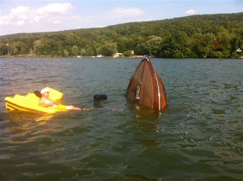 sinking boat canada greavette sinks at greenwood lake antique classic boat