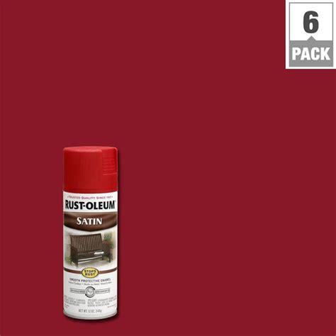 rust oleum stops rust 12 oz protective enamel heritage satin spray paint 6 pack 7760830