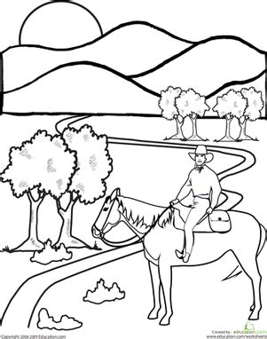 western coloring pages for preschool wild west worksheets and coloring pages education com