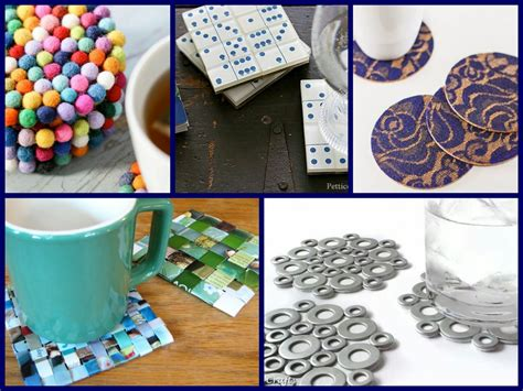 handmade home decor 30 diy coasters decorating ideas handmade home decor