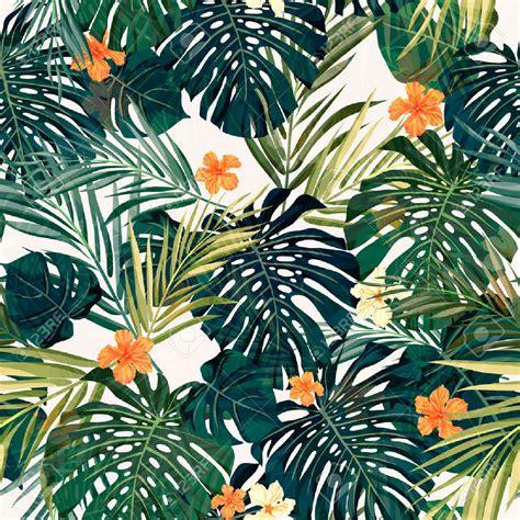 hawaiian floral pattern quot wall paper fondos de pantalla quot rosario conteras