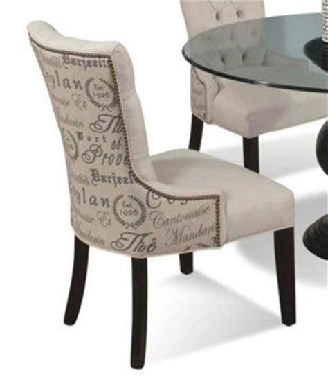 upholstered dining side chair with nailhead trim by cmi