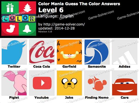 guess the color answers color mania guess the color level 6 solver