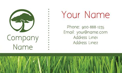card templates landscape tree care green business card design 1304111