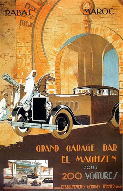 garage rabat 1000 images about maroc morocco vintage posters on