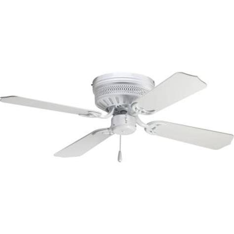 Home Depot White Ceiling Fan With Light Progress Lighting Airpro Hugger 42 In White Ceiling Fan P2524 30 The Home Depot