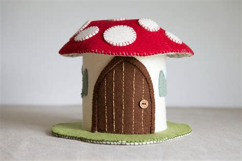 pattern felt house toadstool felt house sewing pattern diy embroidery sewing