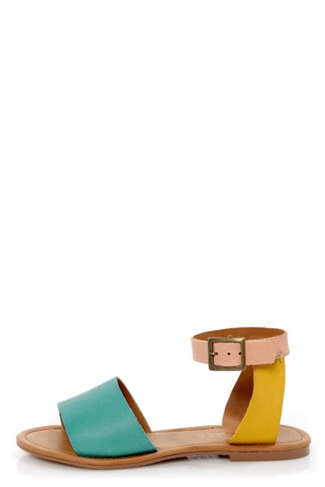 multi color flat shoes coconuts all about turquoise multi color block flat