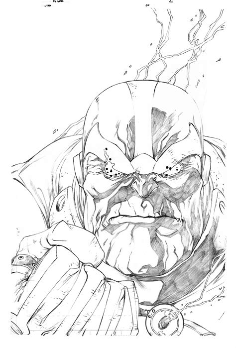 marvel thanos coloring pages thanos by igbarros on deviantart