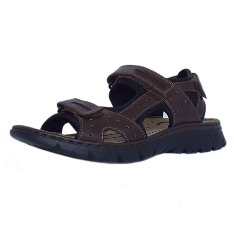 sports sandals uk rieker sandals basque mens sport sandal in brown leather