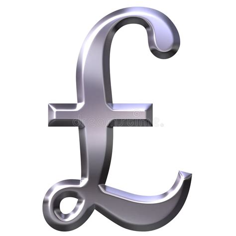 Kaos Symbol Lb 3 3d silver pound symbol stock illustration image 3052385