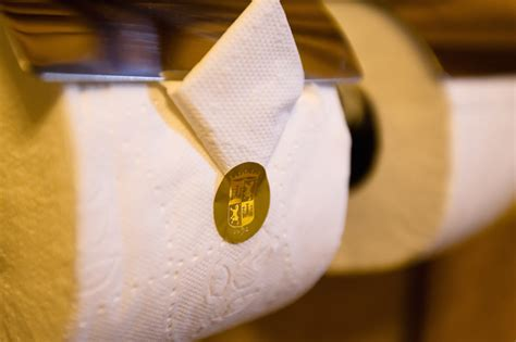 Tissue Origami - hotel toilet paper folding