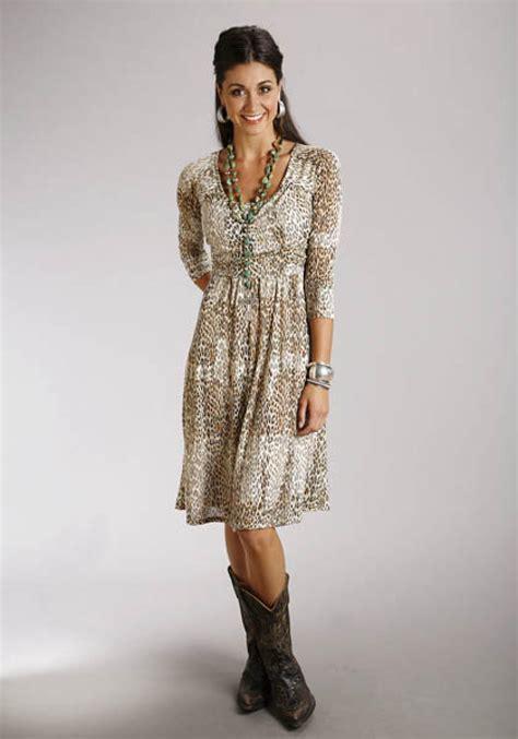 leopard print burnout dress stetson collection