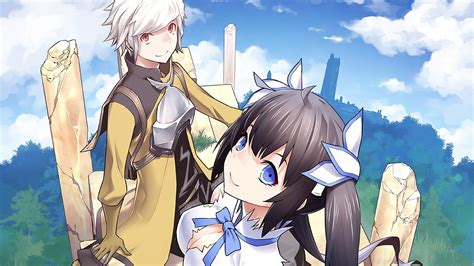 wallpaper anime danmachi bell and hestia full hd wallpaper and background