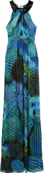 Matthew Williamson Lotus Chiffon Dress by Matthew Williamson Lotus Print Silk Chiffon Maxi Dress In