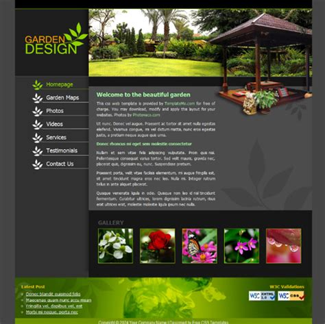 landscaping templates free best photos of landscaping website templates landscape