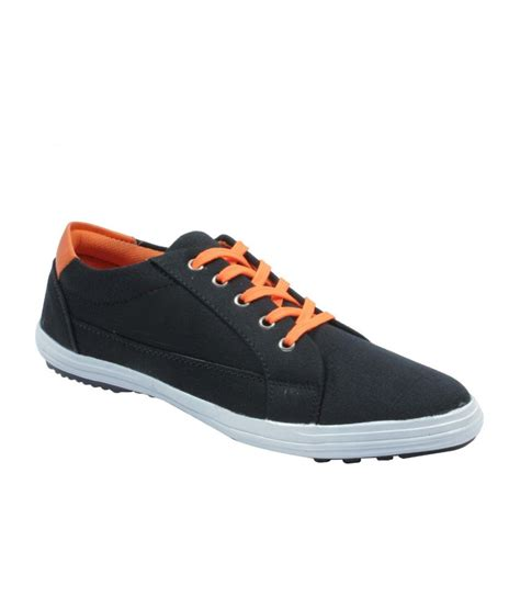 rbb black canvas casual shoes for price in india buy