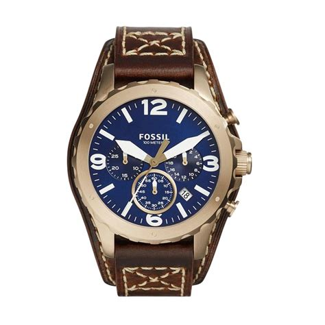 Jam Tangan Fossil Jr 1505 jual fossil nate chronograph blue jr1505 jam tangan pria