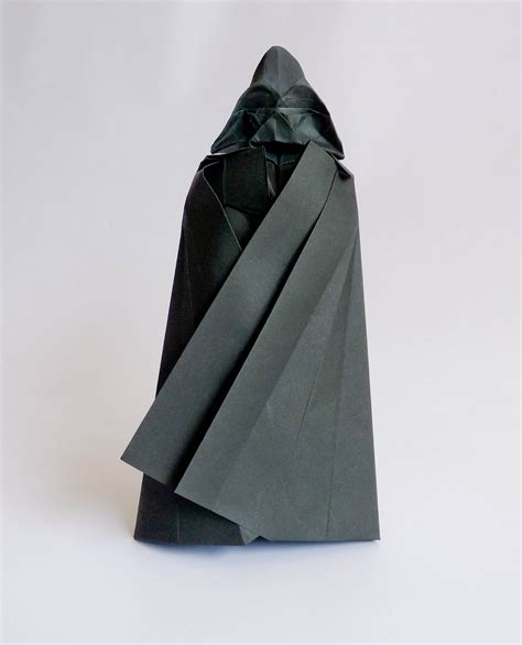 How To Make Origami Darth Vader - origami darth vader tutorial pinteres