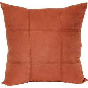 walmart decorative throw pillows mainstays baked clay suede decorative pillow rust