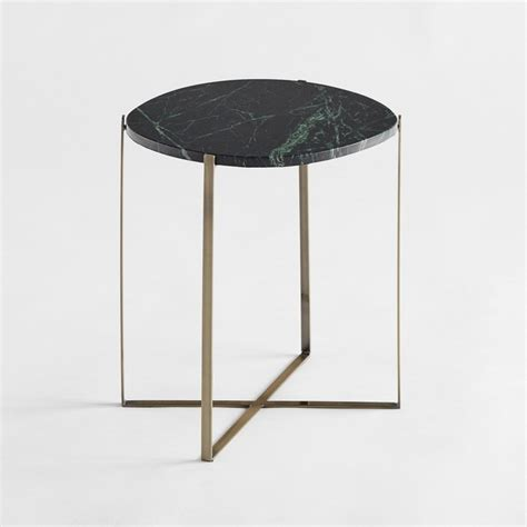 Metal And Marble Coffee Table Arambol Green Marble Metal Oval Side Table Am Pm La Redoute