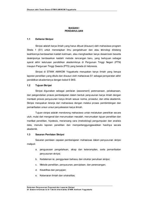format skripsi penelitian pedoman penyusunan penulisan proposal penelitian dan skripsi