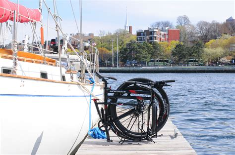 folding sailboat wheel boating with a folding bike montague bikes