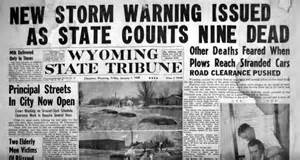 Worst Blizzard In Us History the wyoming blizzard of 1949 was one of the worst in history