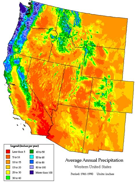 united states precipitation map rainfall and rainfall changes in the usa