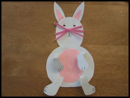 easter bunny craft projects easter bunny with springy arms and legs craft for