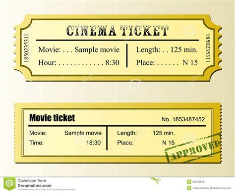 cineplex no passes cinema movie ticket royalty free stock photo image 30548125