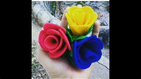 cara membuat bunga matahari flanel cara membuat bunga mawar dari kain flanel youtube