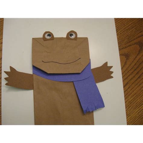 frog paper bag puppet pattern fun with frog and toad three crafts for first grade students