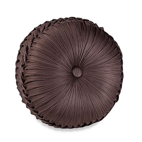 round bed pillows j queen new york luxembourg tufted round throw pillow in
