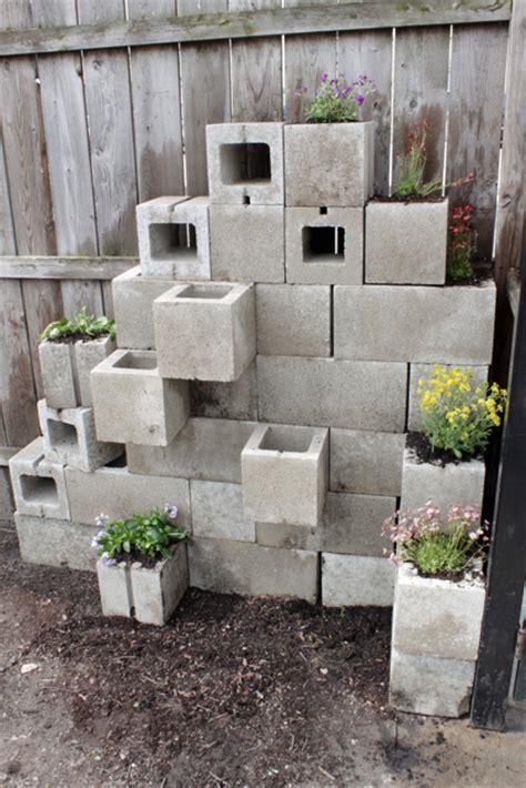 Cinder Block Garden Wall How To Cinder Block Planters