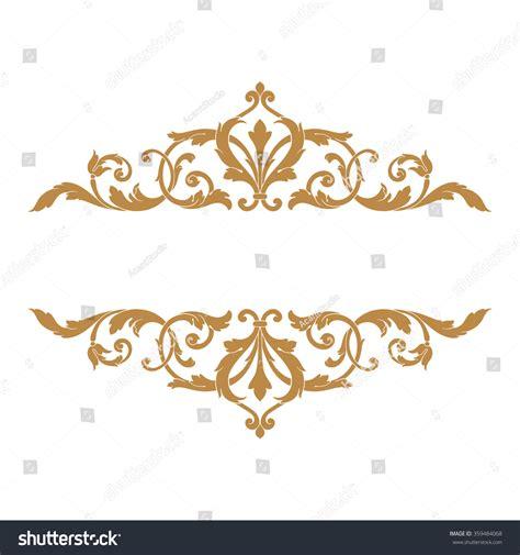 premium gold vintage baroque frame scroll stock vector